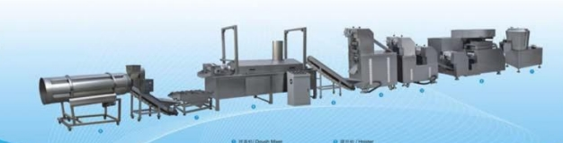 Fried wheat flour snacks process line