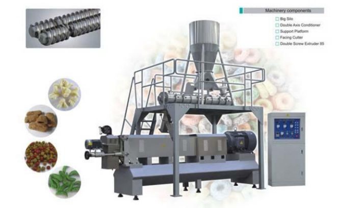 large-size double screw extruder versi lain